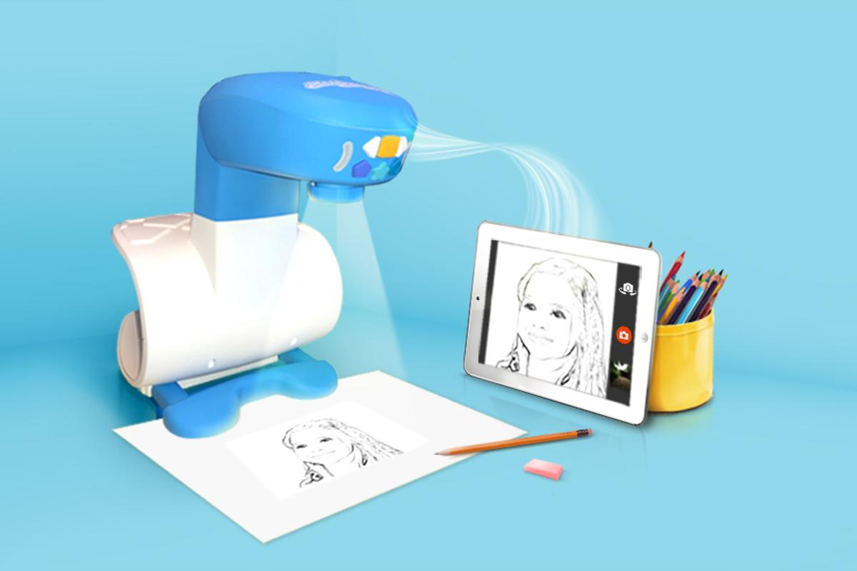 The FollowGrams projector helps teach children how to draw