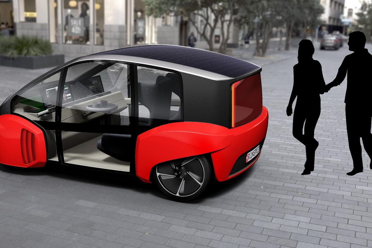 The Oasis is a car by day, and – potentially – a pizza delivery vehicle by night