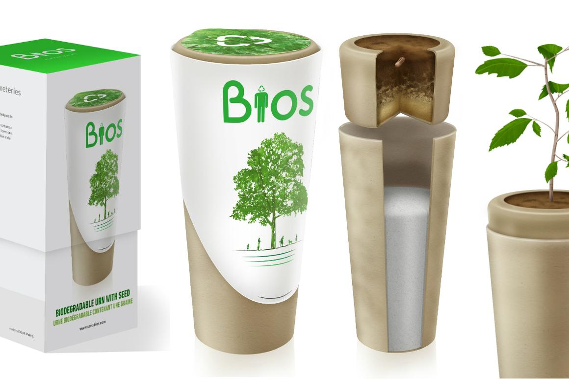 Bios Urn lets your pet's memory live on in the trees