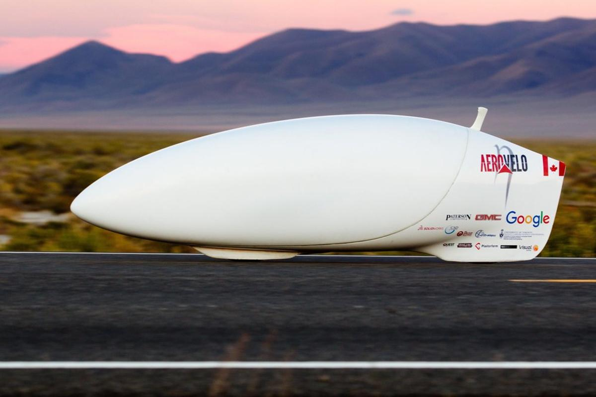 The Aerovelo Eta uses a bullet-shaped shell to cut through the air