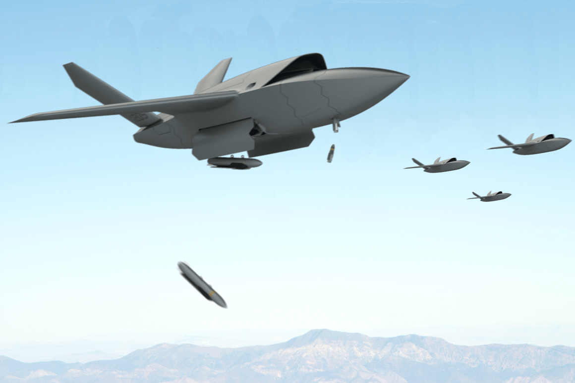 The Kratos XQ-222 Valkyrie will act as an armed-to-the-teeth buddy for manned combat aircraft initially, but swarms of combat drones now seem likely in the not-too-distant future