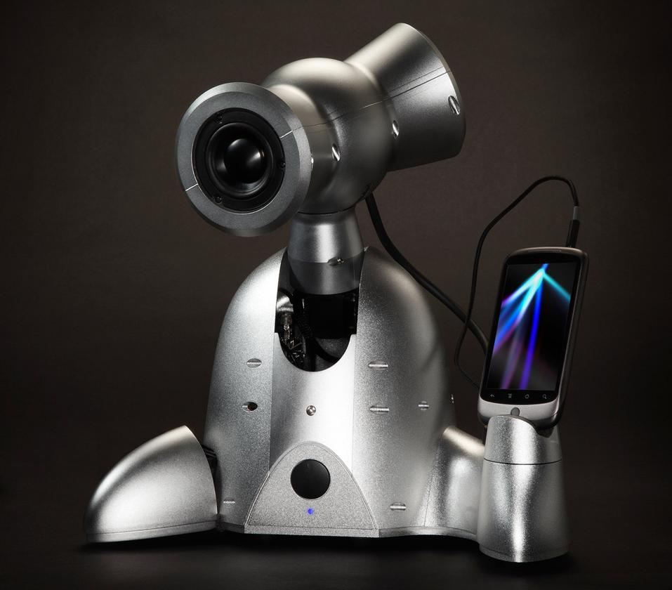 """Shimi is a robotic smartphone dock that uses a connected Android smartphone as its """"brain"""""""