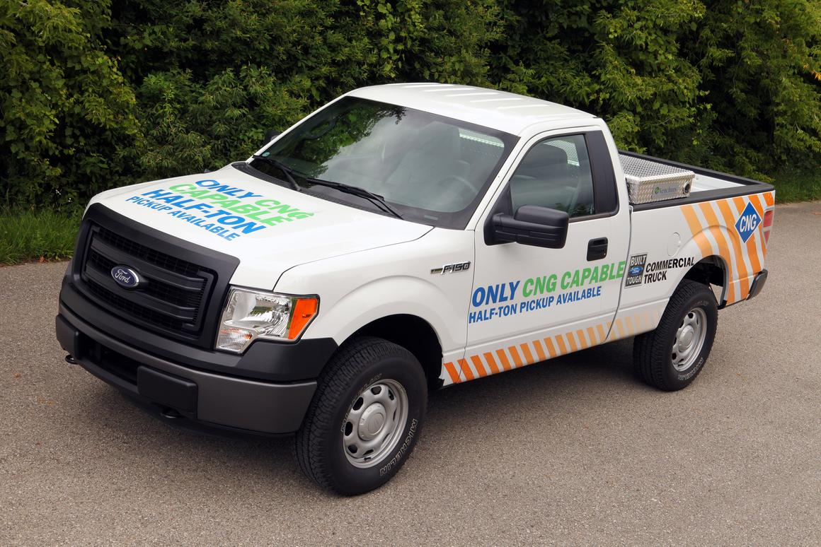 Ford says that the F-150 is the only half-ton pickup truck to offer the LPG/CNG option
