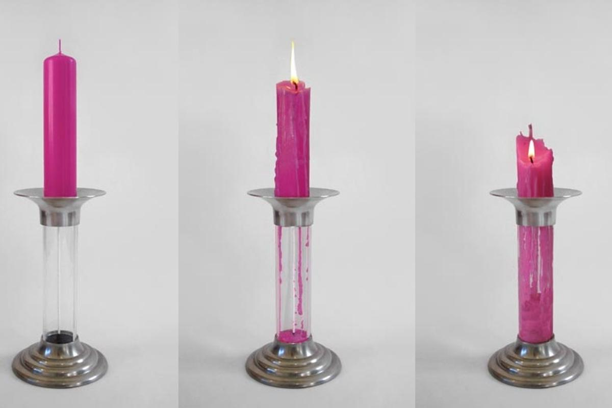 Rekindle from Benjamin Shine is a cleverly designed candlestick that means no wax goes to waste