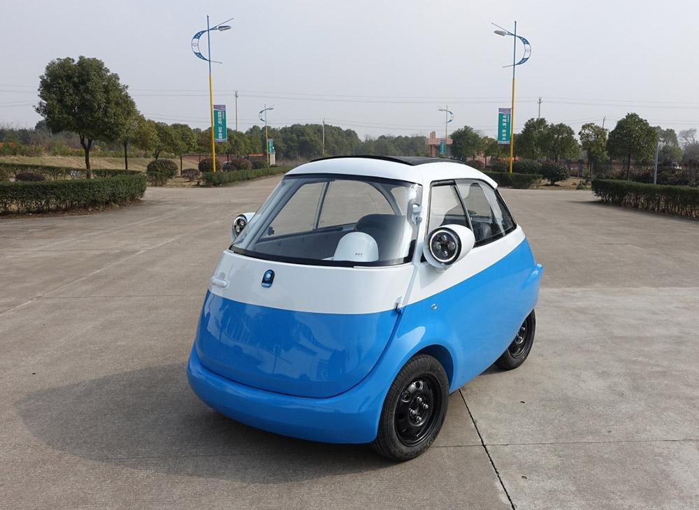 The Microlino EV is powered by a 15 kW motor for a top speed of 100 km/h (62 mph)