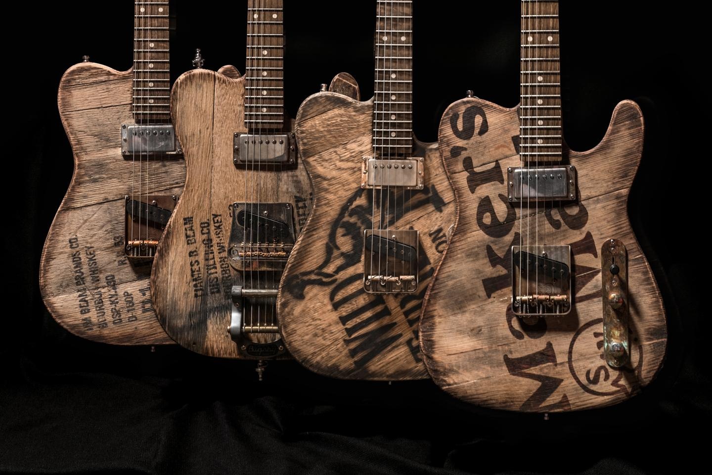 Each Barrel Top Custom T-Style Guitar is made using wood from a different Kentucky whiskey distillery