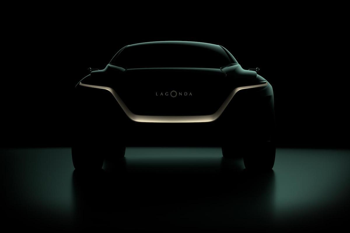 Teaser image for AstonMartin's forthcoming Lagonda All-Terrain Concept