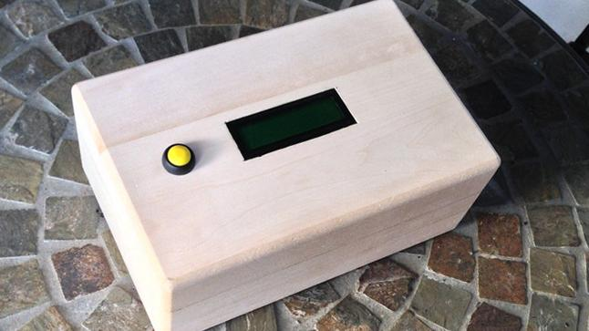 A prototype of the GPS AdventureBox that sends recipients on mission to unlock its contents