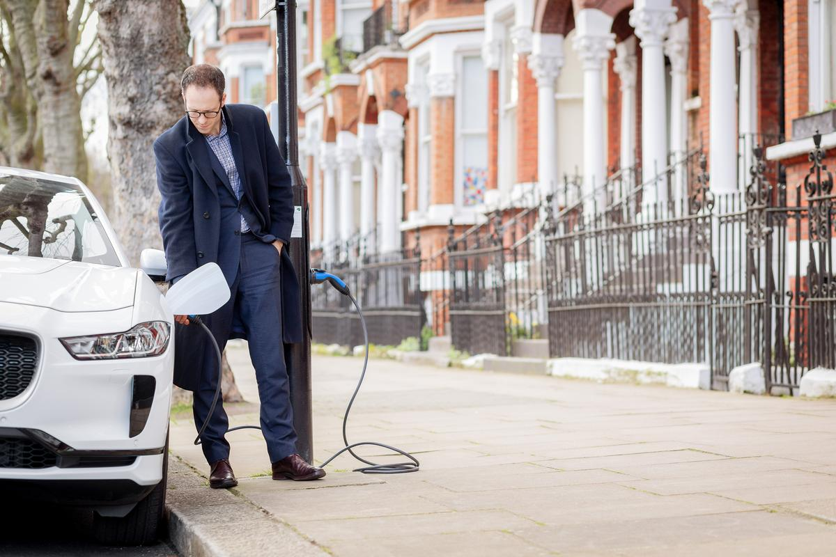 Sutherland Avenue in the City of Westminster now has 24 streetlamp charging posts to top up electric vehicles overnight