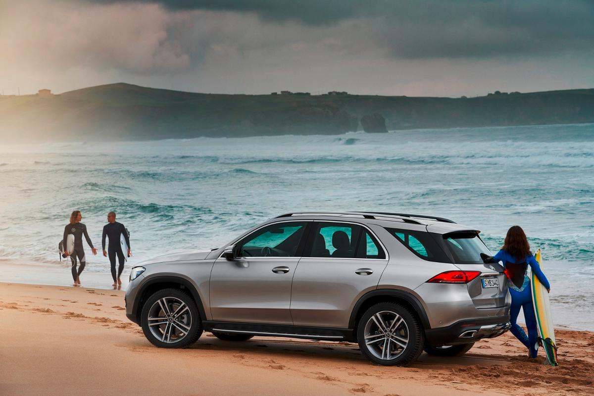 2019 Mercedes-Benz GLE: on the beach