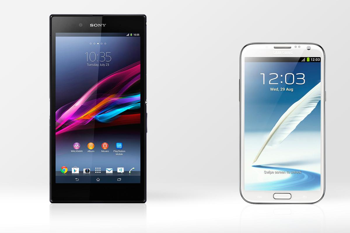 Gizmag compares the specs (and other features) of the Xperia Z Ultra and Galaxy Note 2.