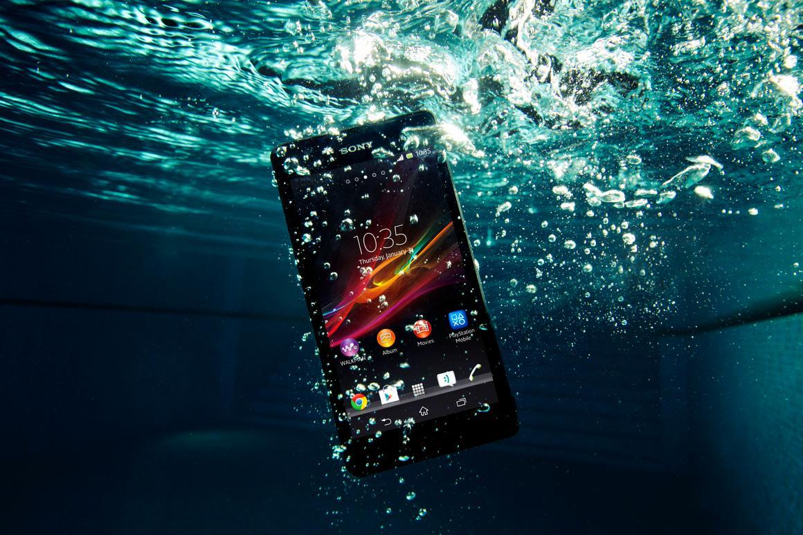 The Xperia ZR is waterproof to 1.5 meters