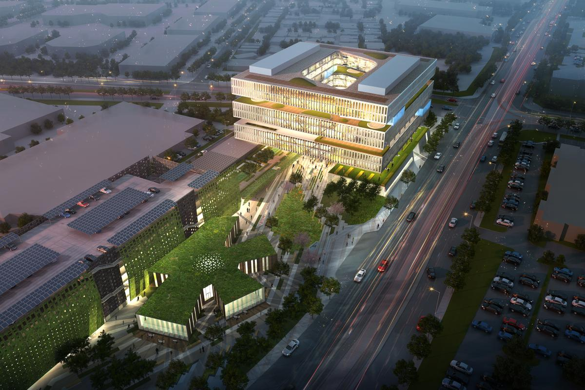 Work on Samsung's new HQ has begun, and is scheduled to be finished by mid-2015 (Image: NBBJ)