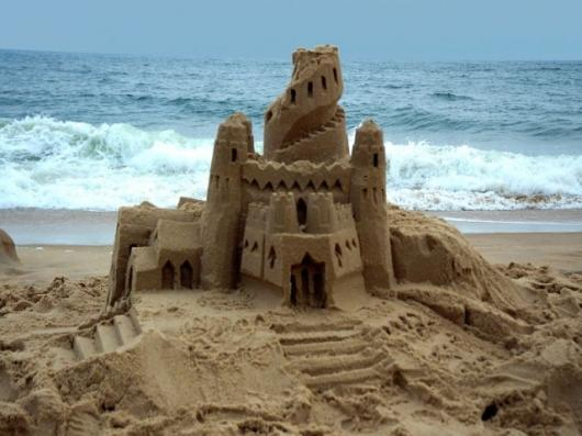 A sandcastle I whipped up in my lunch break