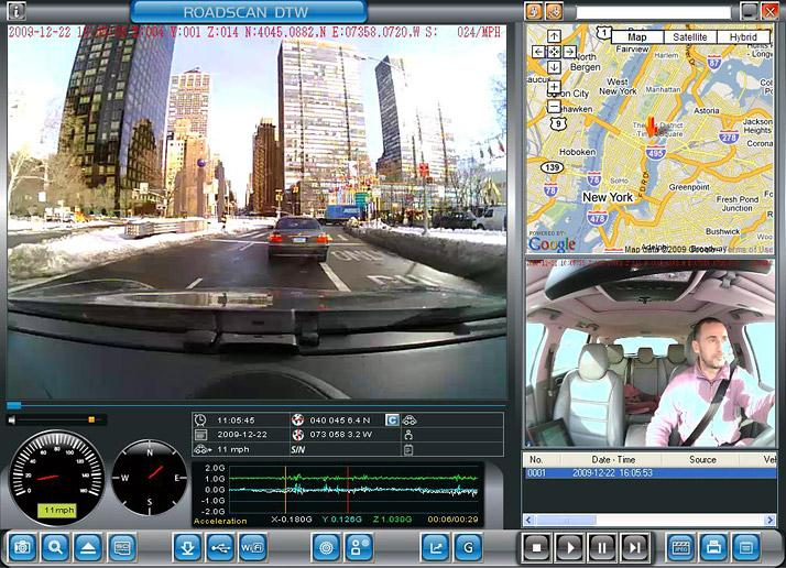 The Koilmat Roadscan DTW 1.0 Camera system features a dual lens that watches both you and the road