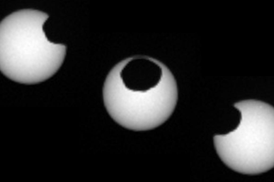 The Curiosity rover has captured Martian solar eclipses