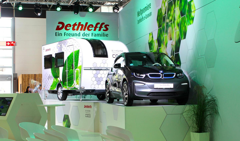 Dethleffs reveals the E.Home Coco on the opening day ofthe 2018Düsseldorf Caravan Salon