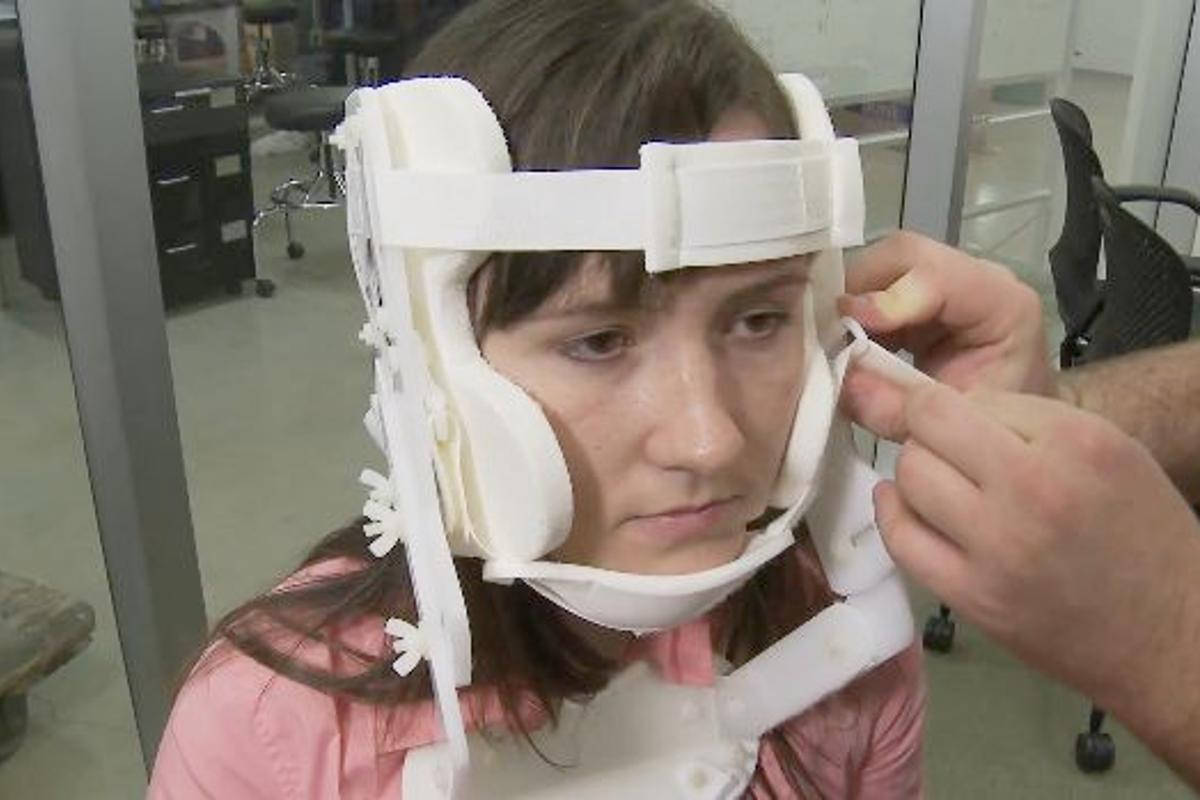 A team of engineering students are designing a new type of cervical collar, that reportedly works better and is safer than traditional models
