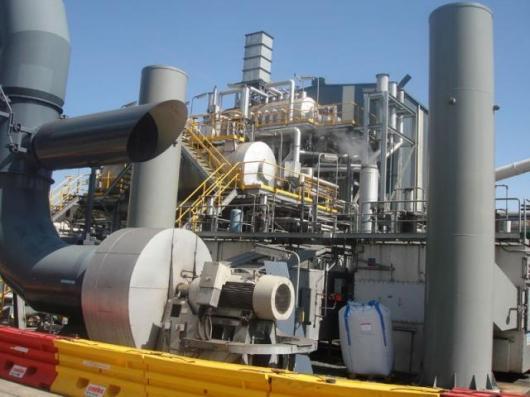 Ventilation air methane (VAM) system