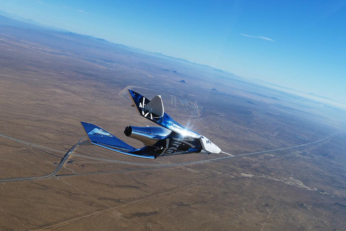 VSS Unity in its new heat protective livery