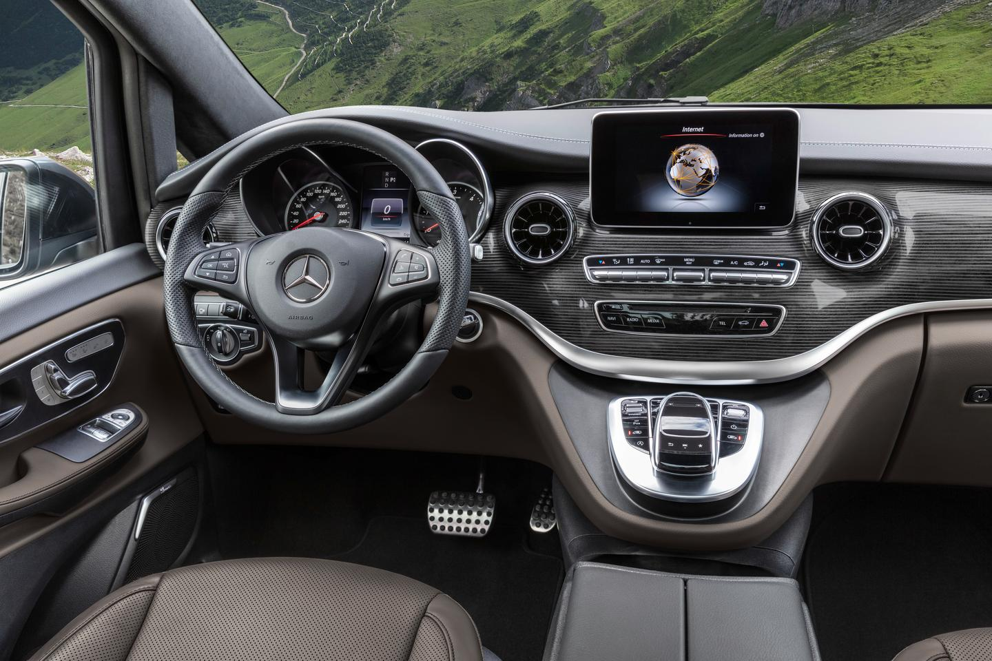 Inside, the V-Class features redesigned vents and plenty of upholstery and trim options