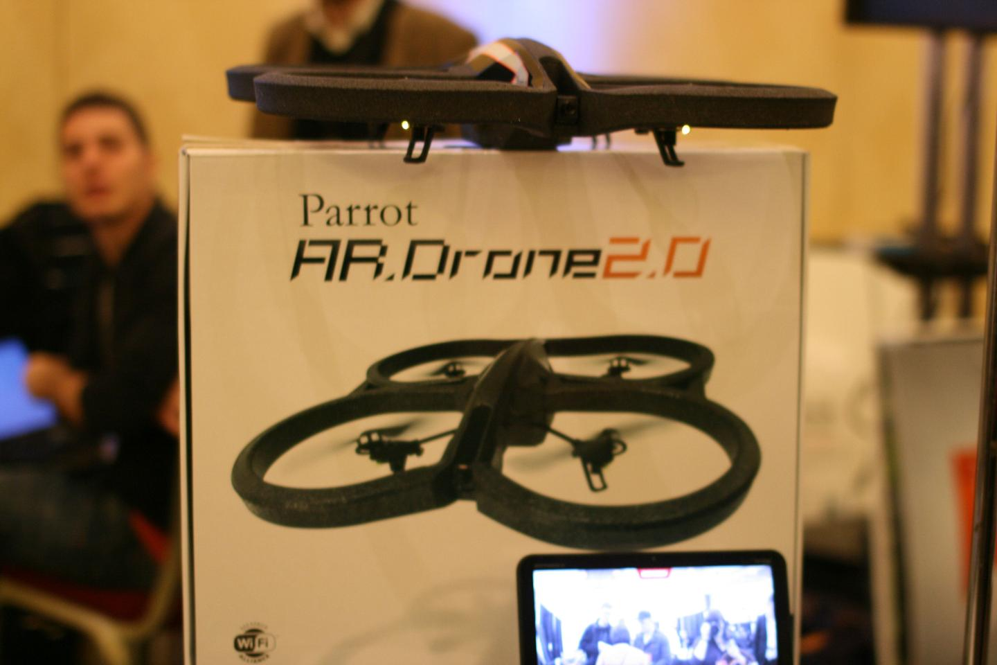Flight video on the AR.Drone 2.0 can be recorded and saved onto your mobile device to watch later on