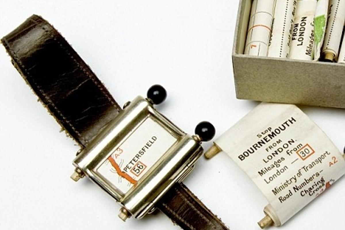 The 1920s-era GPS is among the items on show at the British Library Business and Intellectual Property Centre