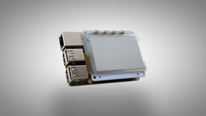 PaPiRus mounted on a Raspberry Pi 2