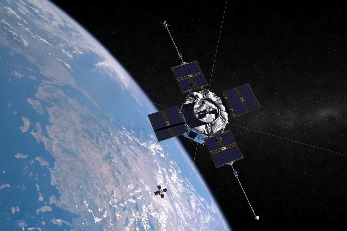 Artist concept of the Van Allen Probes.