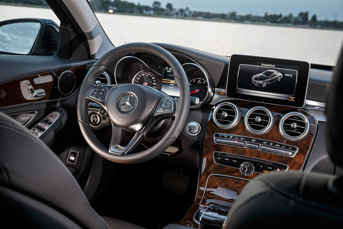 The C-Class Plug-In Hybrid's interior is the same as that on the standard C-Class