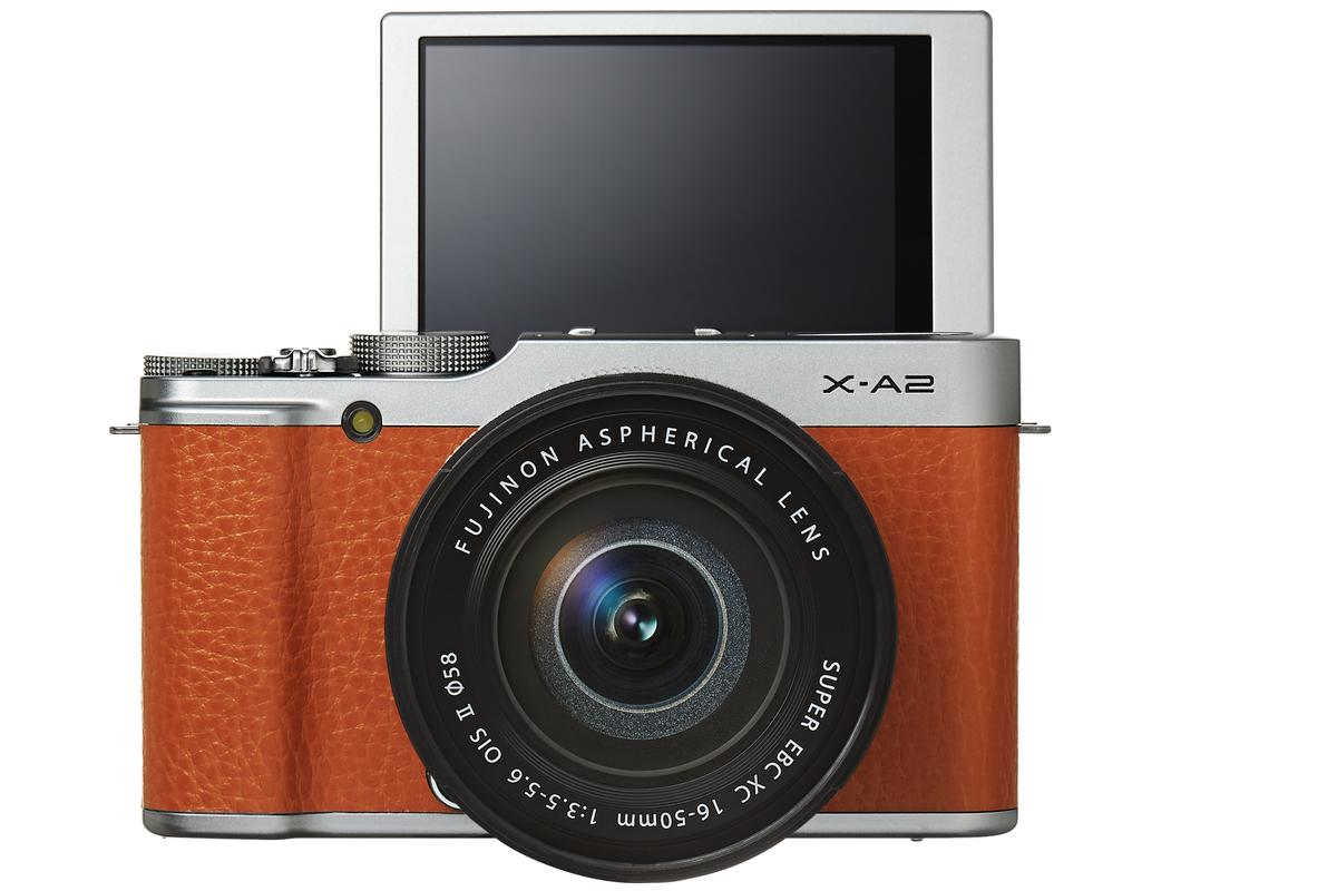 The selfie-focused X-A2 is the headline attraction of the new Fujifilm cameras
