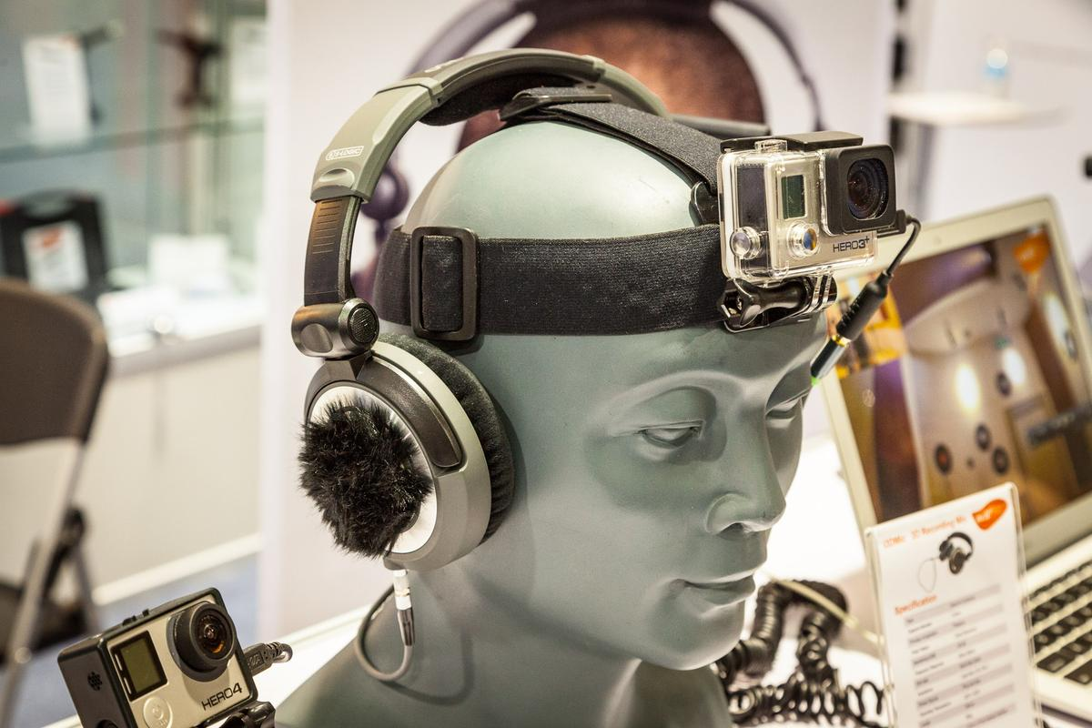 The i3DMic, from China's MicW, does a great job of creating 3D sound recordings (Photo: Loz Blain/Gizmag)