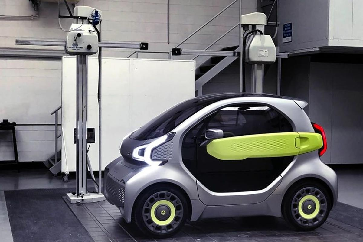 The YoYo city EV is built using 3D-printed components