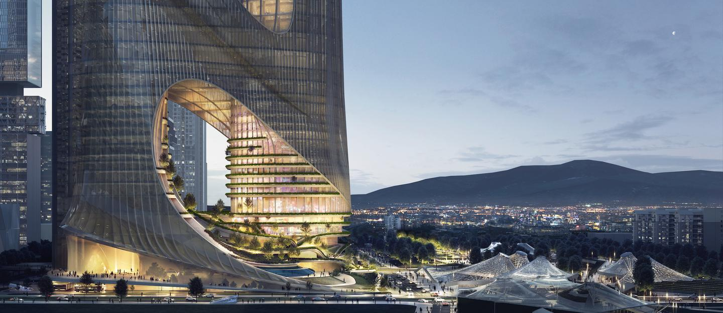 Tower C is the winner of a recent design competition, though we've no word on an expected date of construction