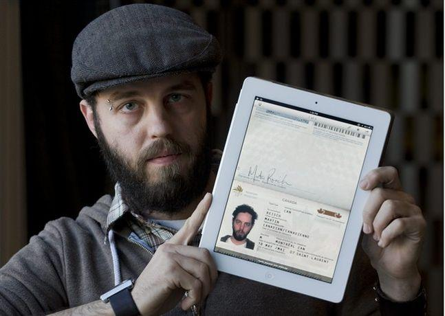 A Canadian citizen was allowed to cross the border into the United States using an image of his passport on his iPad