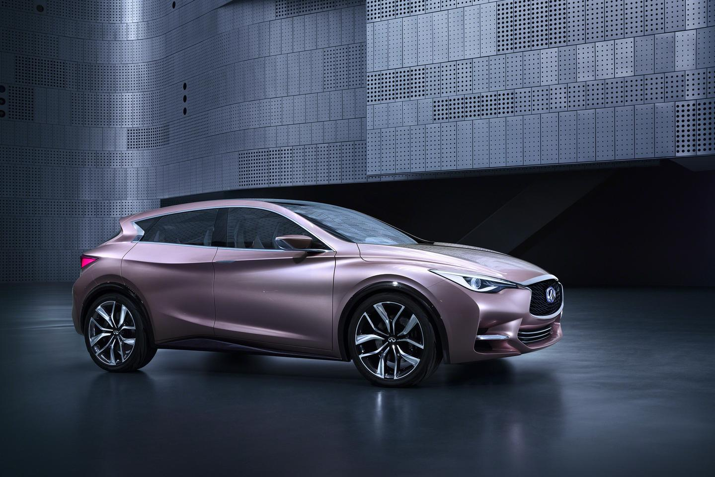 """Infiniti say its new Q30 Concept challenges categorisation – """"not a coupe, not a hatch and not a crossover but a fusion of the three body styles"""""""