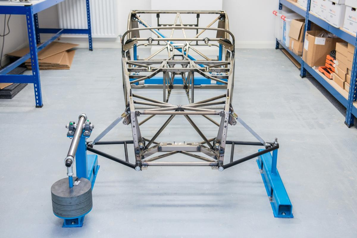The prototype Caterham chassis, influenced by bicycle technology