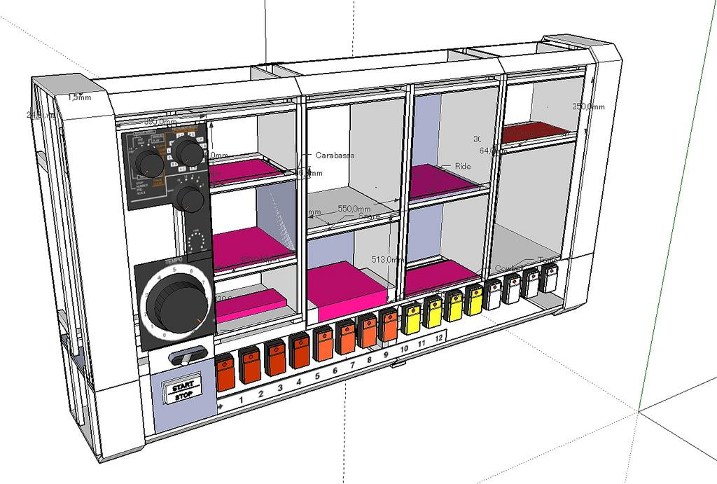 Sketchup of the design for the MR-808