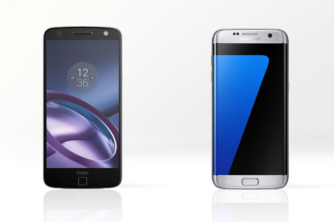 We compare the features and specs of the bold new Moto Z (left) and Samsung Galaxy S7 edge