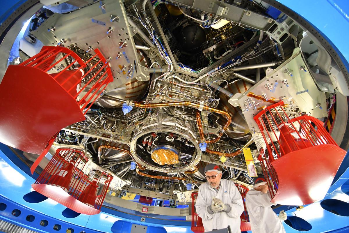 Orion European Service Module-1 seen from below