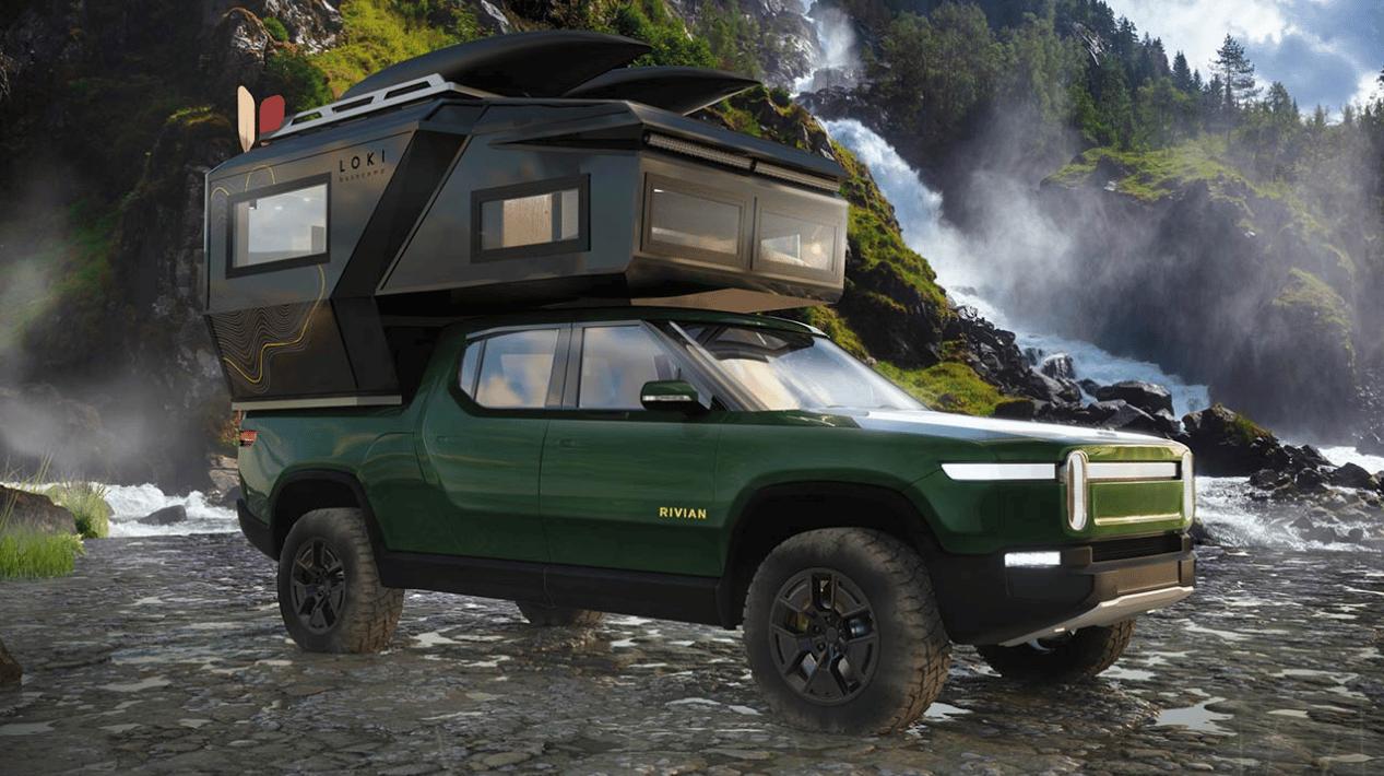 A Rivian R1T camper is in Loki's future plans
