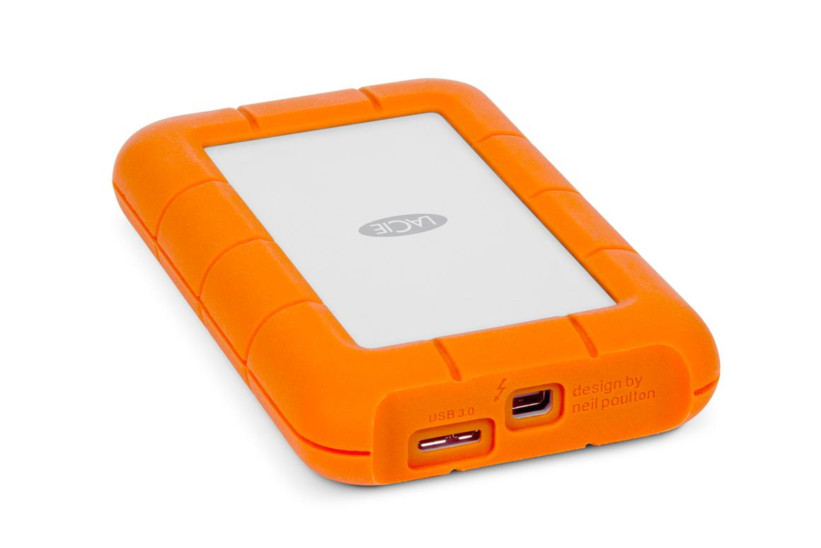LaCie's new Rugged hard drive can survive falls up to 1.2 meters (4 feet) and provide quick transfer rates through Thunderbolt and USB 3.0