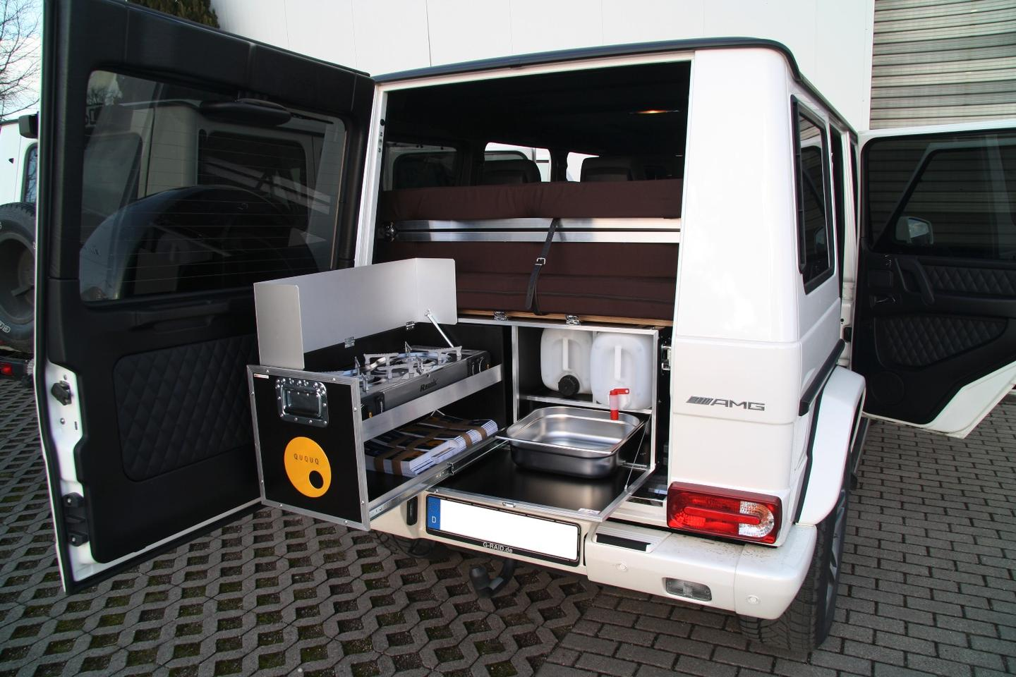 The G-Box puts a camper in the back of the Mercedes G-Class