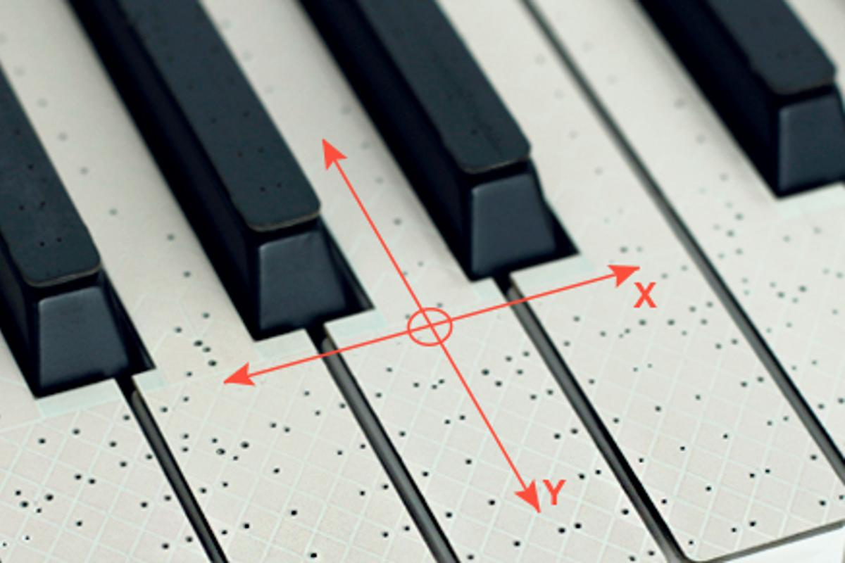 The TouchKeys system brings multitouch sound control to piano-style keyboards
