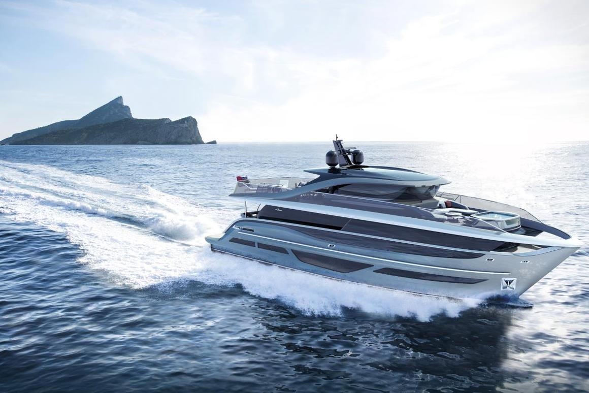 Powered by twin V12 1,900 mhp engines, the X95 can travel at up to 26 knots (48 km/h or 30 mph)