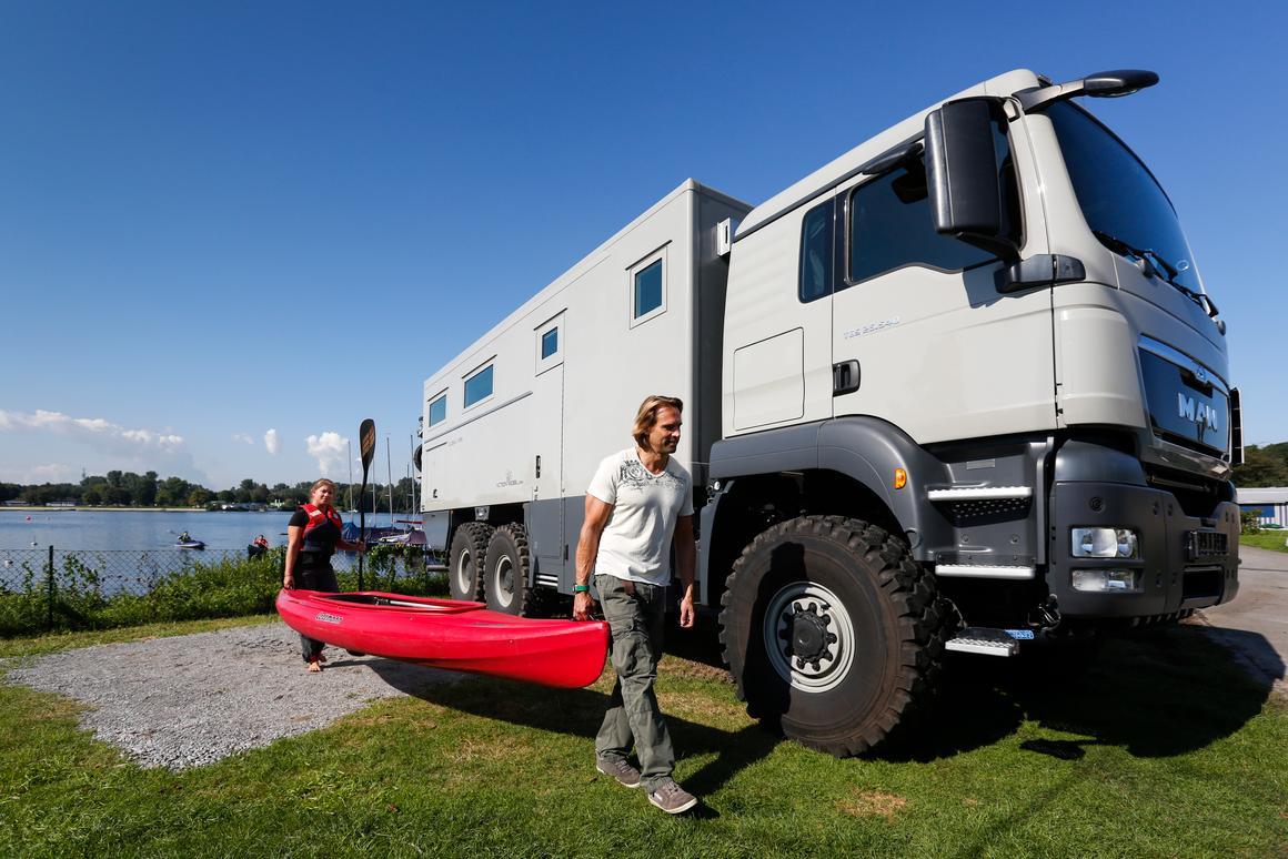 The Action Mobil Global XRS 7200 at Düsseldorf Caravan Salon 2014 (photo: Messe Düsseldorf)