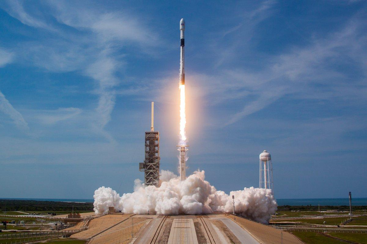 SpaceX's Falcon 9 booster lifts off earlier in the year