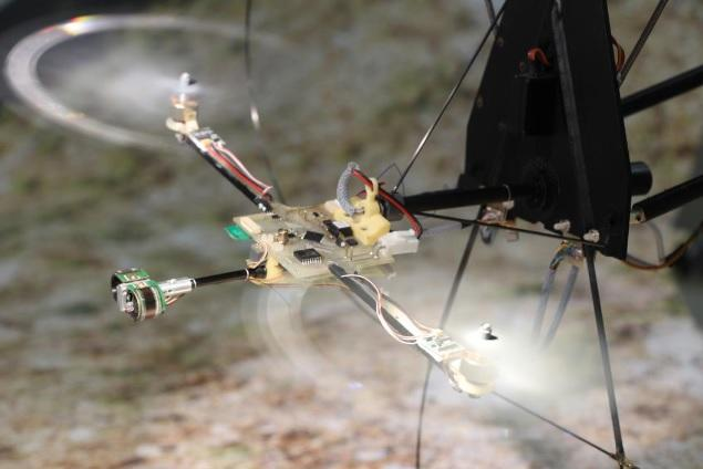 A newly-created compound eye-inspired system may complement existing accelerometer navigation in drones to help improve their autonomous capabilities (Photo: Expert & Ruffier/ISM/CNRS/AMU)
