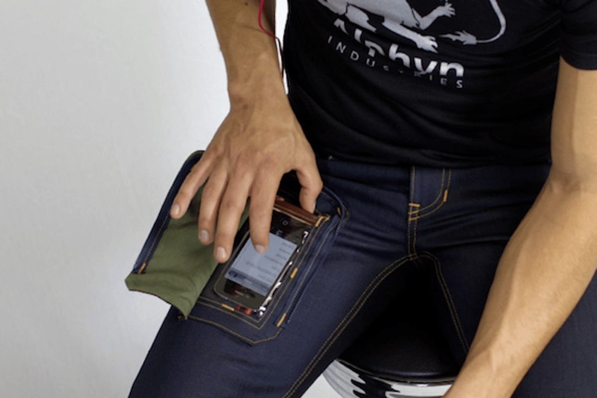 Alphyn Industries' DELTA415 Wearcom jeans let you use your smartphone while it's still in your pocket
