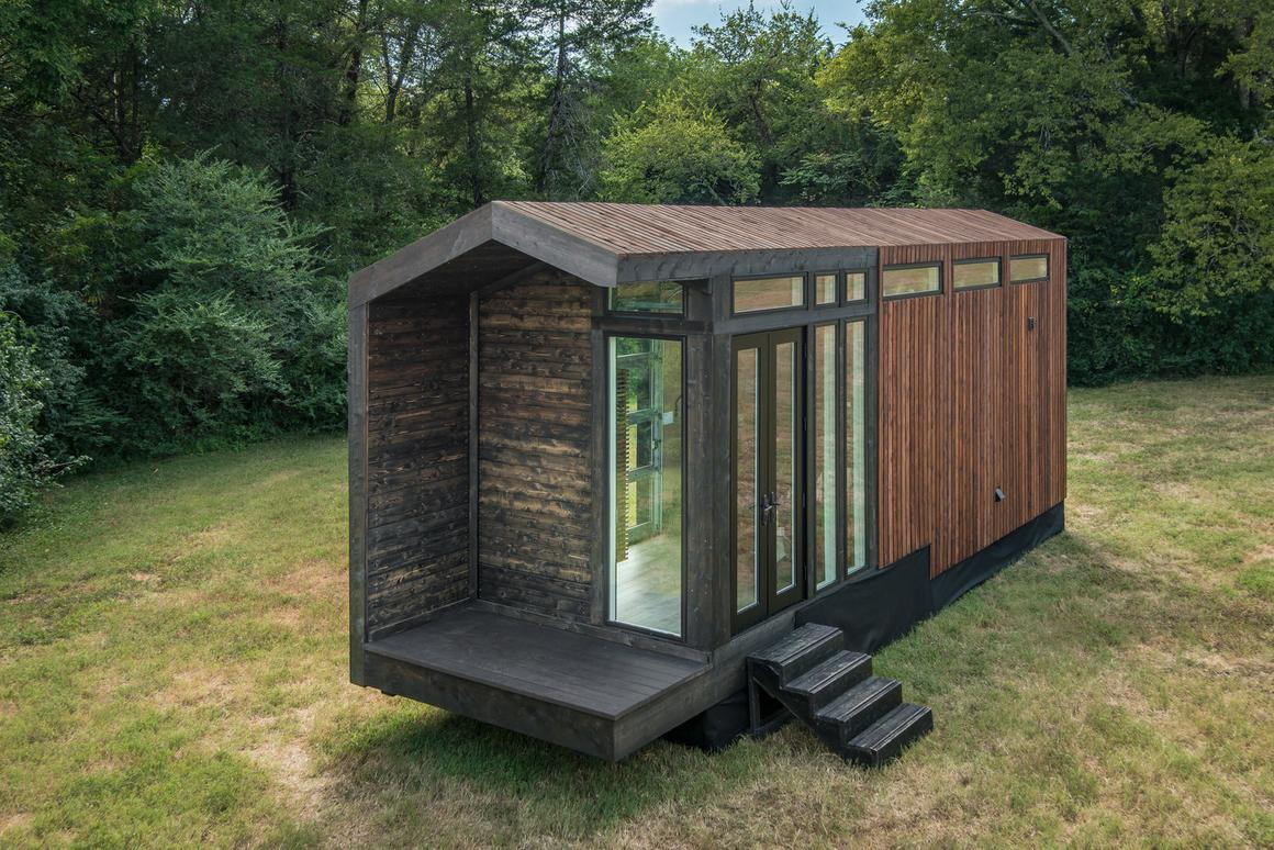 The Orchid Tiny House gets power from an RV hookup as standard, but New Frontier Tiny Homes can also upgrade it to run fully off-the-grid with solar panels at cost